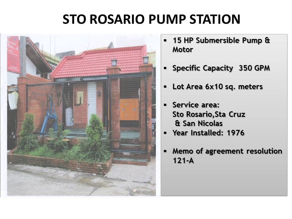 13. Sto Rosario Pump Station