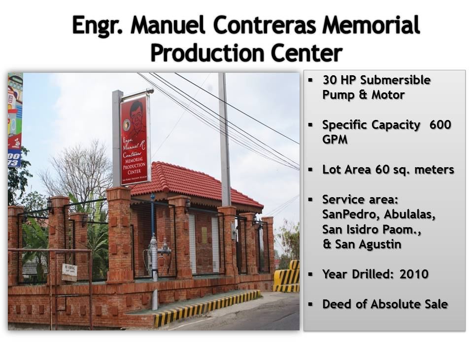 5. Engr. Manuel Contreras Production Center