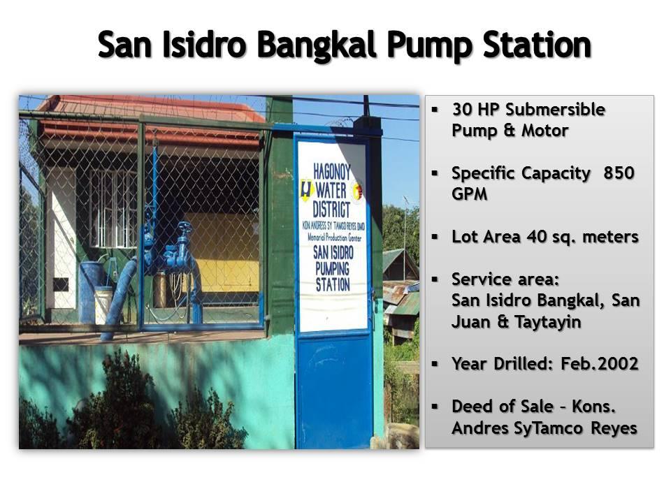 8. San Isidro Bangkal Pump Station